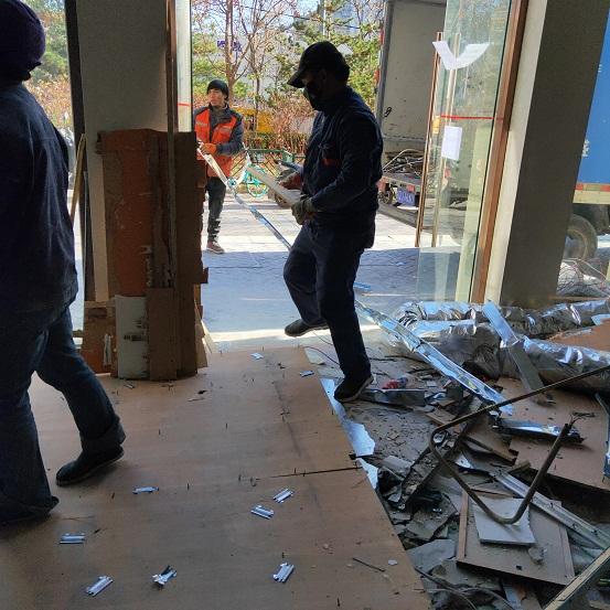 人工拆除好处多,安全措施不能少